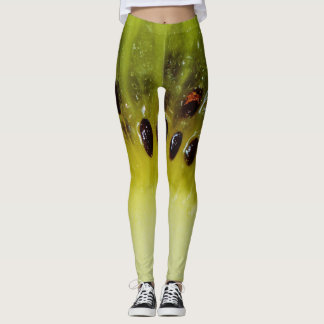 Funny kiwi fruit leggings