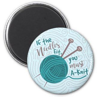 Funny Knitting Knitter Humor Needles Yarn Magnet