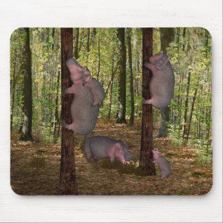 Funny Koala-Wannabe Hippos Mouse Pad