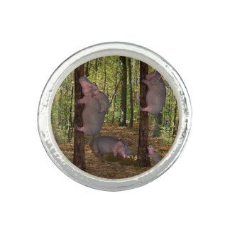 Funny Koala-Wannabe Hippos Rings