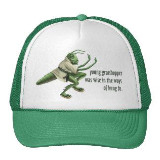 Funny Kung Fu Grasshopper Trucker Hats