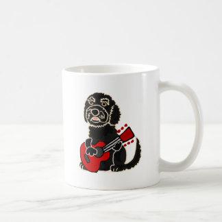 Funny Labradoodle Playing Guitar Coffee Mug