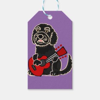 Funny Labradoodle Playing Guitar Gift Tags