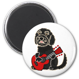 Funny Labradoodle Playing Guitar Magnet