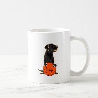 Funny Labrador Retriever Playing Basketball Coffee Mug