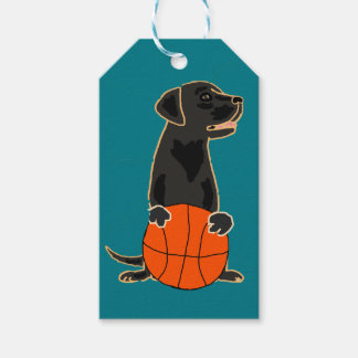 Funny Labrador Retriever Playing Basketball Pack Of Gift Tags