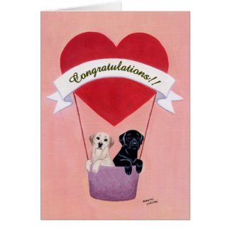 Funny Labradors for Wedding Card