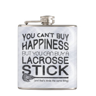 Funny Lacrosse Design Hip Flask