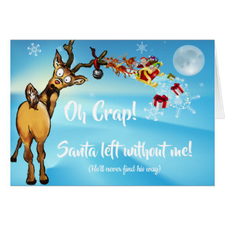 Funny Late Christmas Excuse Card