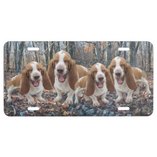 Funny Laughing Basset Hounds Basset Hound License Plate