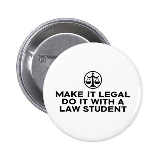 Funny Law Student Pin