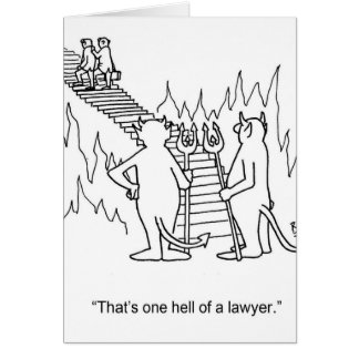 Funny Lawyer Greeting Card