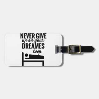 Funny lazy selective participation tshirt luggage tag