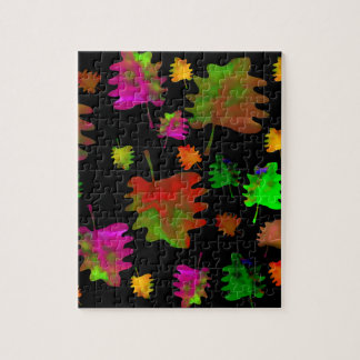 Funny leaves watercolor jigsaw puzzle