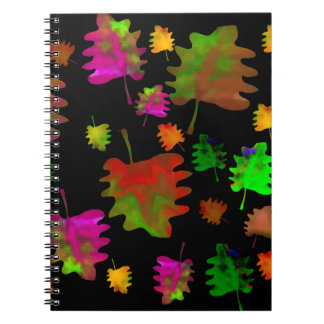 Funny leaves watercolor spiral note book