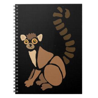 Funny Lemur Abstract Art Spiral Notebook