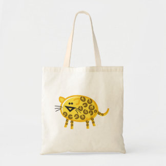 Funny Leopard on White Canvas Bags