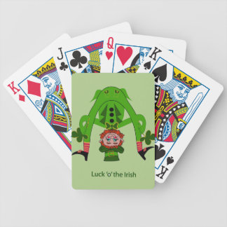 Funny Leprechaun Bicycle Playing Cards