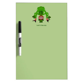 Funny Leprechaun Dry-Erase Whiteboards