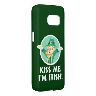 Funny Leprechaun Kiss Me I'm Irish Saint Patrick Samsung Galaxy S7 Case