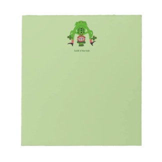 Funny Leprechaun Notepad