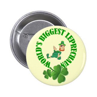 Funny leprechaun  St Patrick's day 2 Inch Round Button