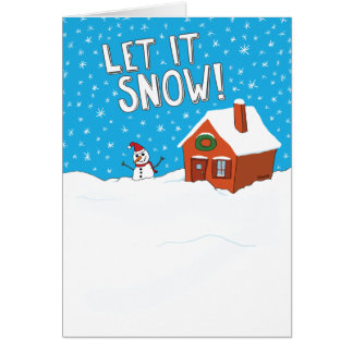 Funny Let It Snow Holiday Card