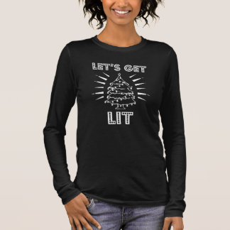 Funny Let's get lit Christmas women's shirt