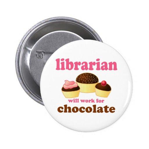Funny Librarian Button