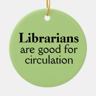 Funny Librarian Ornament Circulation Pun Custom