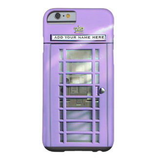 Funny Lilac British Phone Box Personalized Barely There iPhone 6 Case