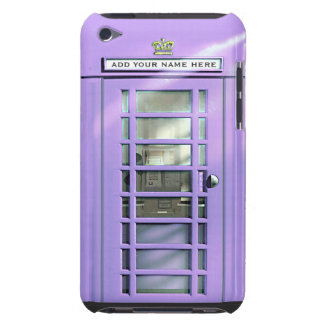 Funny Lilac British Phone Box Personalized Case-Mate iPod Touch Case