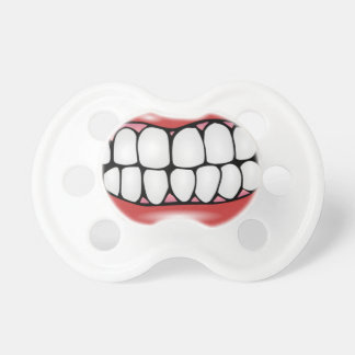 Funny Lips and Big Adult Teeth Baby Soother Baby Pacifier