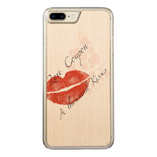 Funny Lipstick Iphone 6 plus Carved iPhone 7 Plus Case