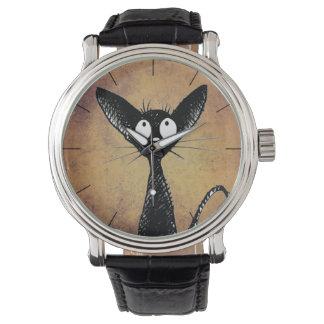 Funny Little Black Cat Watch