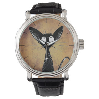 Funny Little Black Cat Watches