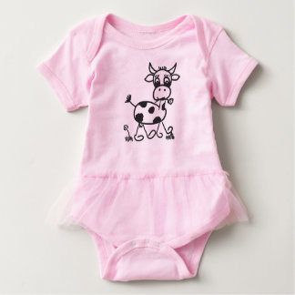 Funny Little Cow - Body with Tutu Baby Bodysuit