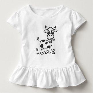 Funny Little Cow - frills shirt