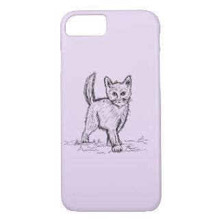 Funny Little Cute Cat Drawing iPhone 7 Case