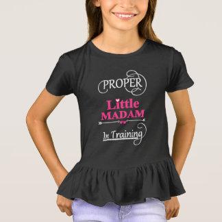 Funny Little Girls Novelty Slogan Text T-Shirt