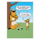 Funny Little Horse Birthday Card
