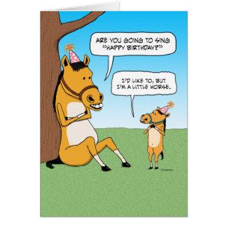 Funny Little Horse Birthday Card