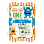 """Funny Little Monster Birthday Party 5"""" X 7"""" Invitation Card"""