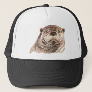 Funny Little Otter, Cute Animal Nature Trucker Hat