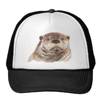 Funny Little Otter, Cute Animal Nature Trucker Hat