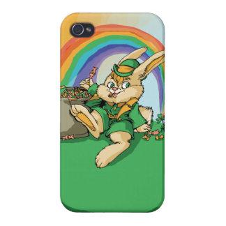 Funny Little Saint Patrick Rabbit iPhone 4 Cover