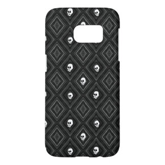 Funny little Skull pattern, bw Samsung Galaxy S7 Case