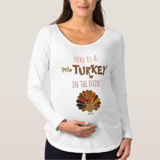 Funny Little Turkey - Maternity T-Shirt