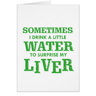 Funny Liver designs Card
