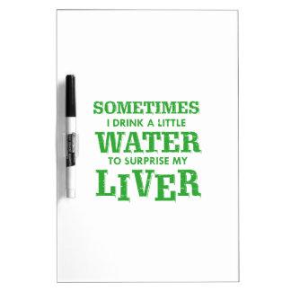 Funny Liver designs Dry Erase Board
